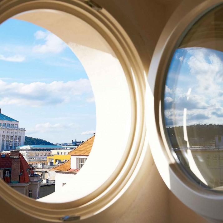 Ordinace Podkovka Praha Podolí - výhled z okna.