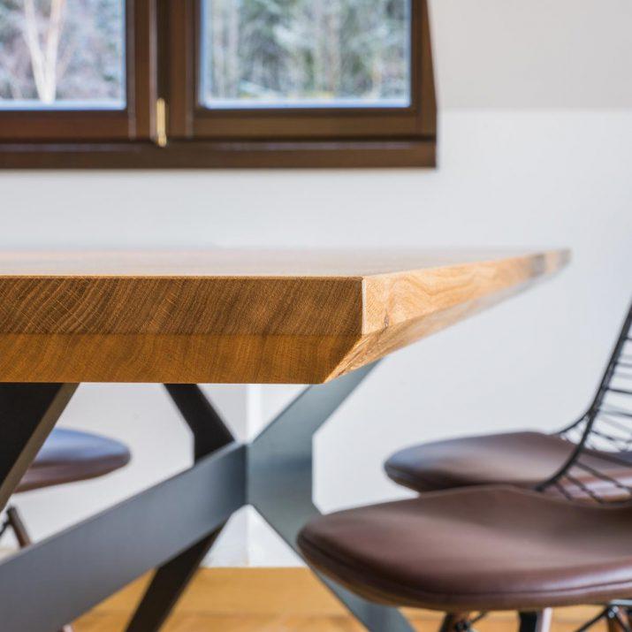 Apartmán Špindlerův Mlýn – Detail jídelního stolu